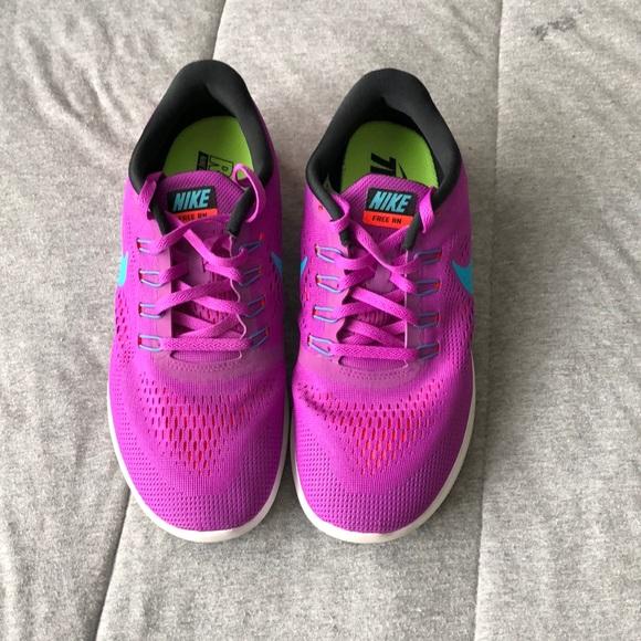 buy popular bcd94 daf5d women's nike free rn purple sneakers